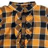 Chemise manches longues à carreaux volantée