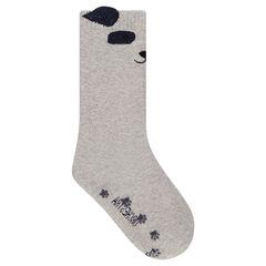 Ψηλές κάλτσες αντιολισθητικές με πάντα σε ζακάρ