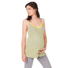 Débardeur homewear de grossesse avec dentelle