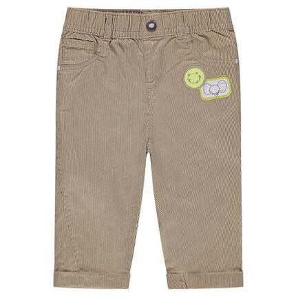 Βελούδο κοτλέ παντελόνι με σήματα ζωάκια