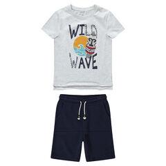 028be1b7689 Παιδικά - Σύνολο μπλούζα με έθνικ τύπωμα και βερμούδα