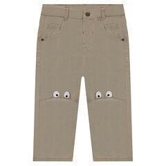 Παντελόνι από τουίλ ύφασμα με στάμπα ματάκια