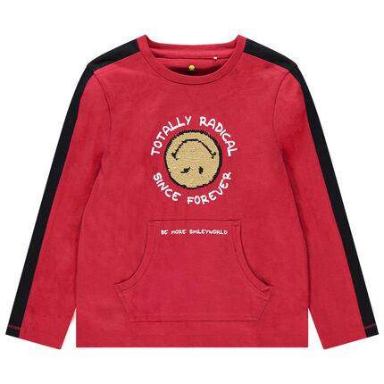 Μακρυμάνικη μπλούζα με μοτίβο Smiley από «μαγικές» πούλιες