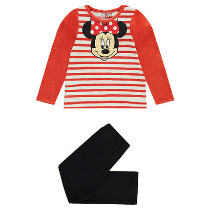Μακριά πιτζάμα βελουτέ με τη Minnie της Disney