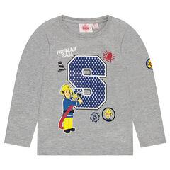 Μακρυμάνικη μπλούζα με στάμπα Σαμ ο πυροσβέστης 2 ©Prism Art and Design Limited
