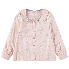 Μακρυμάνικο πουκάμισο με φλοράλ μοτίβο σε όλη την επιφάνεια