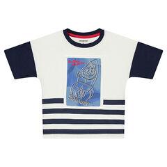 Κοντομάνικη ζέρσεϊ μπλούζα με στάμπα πύραυλο