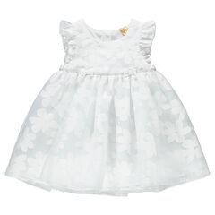 Φόρεμα για επίσημες περιστάσεις από τούλι με λουλούδια σε ελαφρώς διαφορετικό τόνο