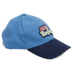 Δίχρωμο καπέλο από τουίλ με απλικέ σήμα