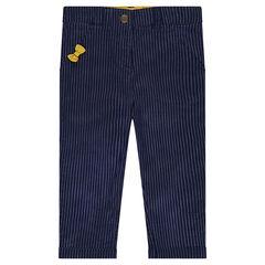 Παντελόνι chino με διακοσμητικές ρίγες