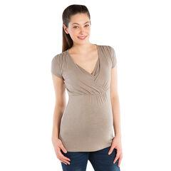 Κοντομάνικη μπλούζα θηλασμού