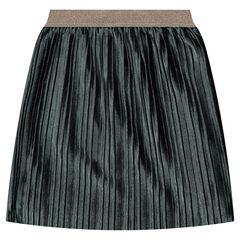 Πλισέ μακριά φούστα από βελούδο