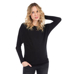Μόνοχρωμο πλεκτό πουλόβερ εγκυμοσύνης με κουμπιά με διακοσμητικό σχέδιο