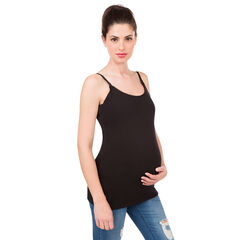 Σετ με 2 αμάνικα μονόχρωμο μπλουζάκια εγκυμοσύνης και θηλασμού