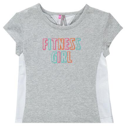 Tee-shirt manches courtes bi-matière spécial sport