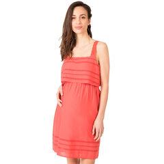 Βαμβακερό φόρεμα εγκυμοσύνης με αζούρ σχέδιο