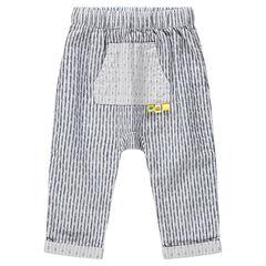 Παντελόνι με κάθετες ρίγες και τσέπη καγκουρό