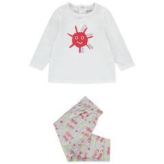 Pyjama 2 pièces en jersey manches longues printé