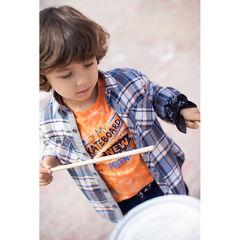 Μακρυμάνικο καρό πουκάμισο με τσέπες