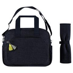 Τσάντα-αλλαξιέρα σε τζιν ύφανση με επένδυση με αστεράκια