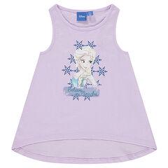 """Αμάνικο μπλουζάκι με αθλητική πλάτη και τύπωμα """"Ψυχρά κι Ανάποδα"""" της Disney"""