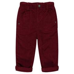 Βελούδινο παντελόνι με επένδυση ζέρσεϊ