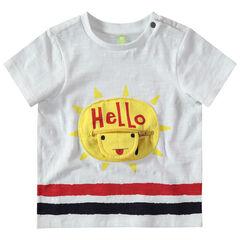 Κοντομάνικη ζέρσεϊ μπλούζα με ήλιο και τσέπη με φερμουάρ