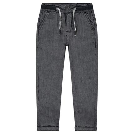 Παντελόνι με επένδυση ζέρσεϊ με λεπτές ρίγες