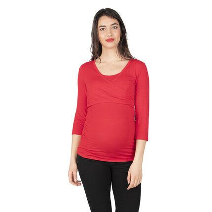 Μακρυμάνικη μπλούζα εγκυμοσύνης και θηλασμού από ζέρσεϊ