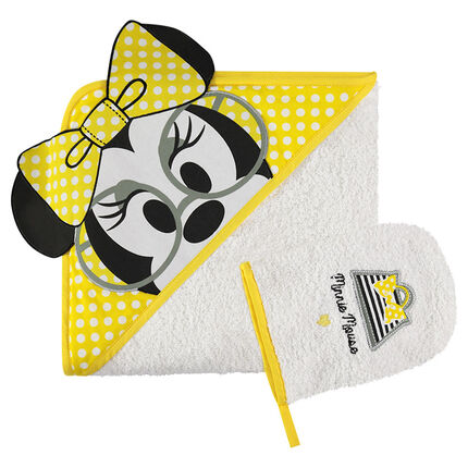 Σετ μπάνιου πετσετέ με κέντημα τη Minnie της Disney