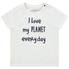 T-shirt κοντομάνικο με οργανικό βαμβάκι και μήνυμα από παγιέτες , Orchestra