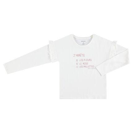 bb3958faf88b Παιδικά - Μακρυμάνικη μπλούζα από ζέρσεϊ με τυπωμένο μήνυμα ...