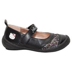 Μαύρα μαλακά παπουτσάκια με παγιέτες Hello Kitty