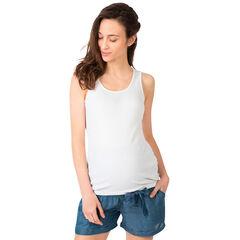 Αμάνικη ριμπ μπλούζα εγκυμοσύνης