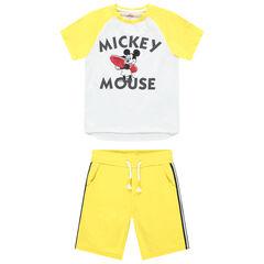 Ensemble t-shirt print Mickey Disney et bermuda à bandes , Orchestra