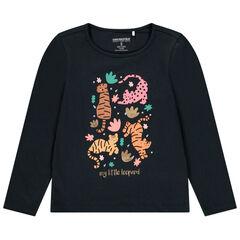T-shirt manches longues en coton pour fille à print fantaisie , Orchestra