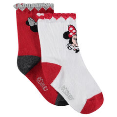 Σετ 2 ζευγάρια κάλτσες με ζακάρ μοτίβο Minnie της Disney
