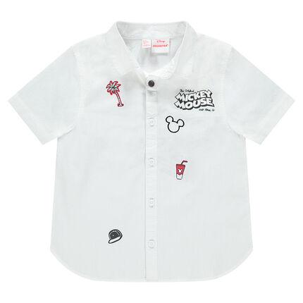 Κοντομάνικο πουκάμισο με στάμπες Μίκυ της ©Disney