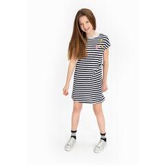 Παιδικά - Κοντομάνικο ριγέ φόρεμα με σήματα ©Smiley
