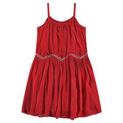 Παιδικά - Φόρεμα με τιράντες και πούλιες