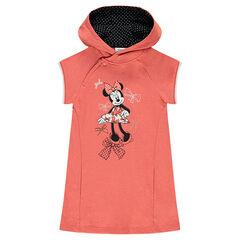 Φόρεμα από φανέλα με κουκούλα και στάμπα τη Μίνι της Disney