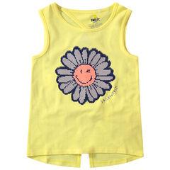 Αμάνικη ζέρσεϊ μπλούζα με μοτίβο λουλούδι ©Smiley από «μαγικές» πούλιες