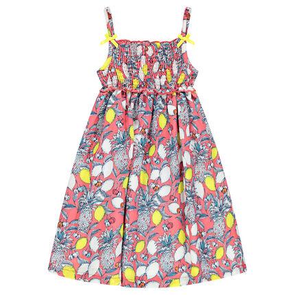 Φόρεμα με λεπτές τιράντες και εμπριμέ μοτίβο
