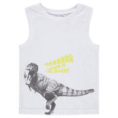 Αμάνικη μπλούζα με στάμπα δεινόσαυρο