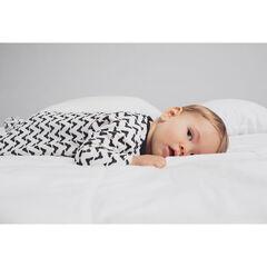 Σετ 2 βελουτέ φορμάκια ύπνου με φερμουάρ, ένα με μοτίβο μάσκα και ένα εμπριμέ