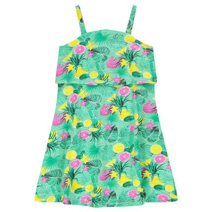 Φόρεμα παραλίας με φαντεζί εμπριμέ μοτίβο