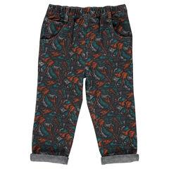 Υφασμάτινο παντελόνι σε ίσια γραμμή με μοτίβο κιθάρες