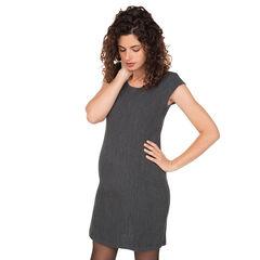 Αμάνικο φόρεμα εγκυμοσύνης σε ελαστική ύφανση milano