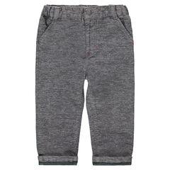 Βαμβακερό μελανζέ παντελόνι με ζέρσεϊ επένδυση