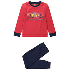 Ζέρσεϊ πιτζάμα Cars με μακρυμάνικη μπλούζα και παντελόνι